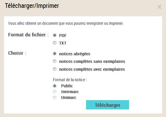 Telecharger Imprimer Envoyer Par Courriel Aide Catalogue General