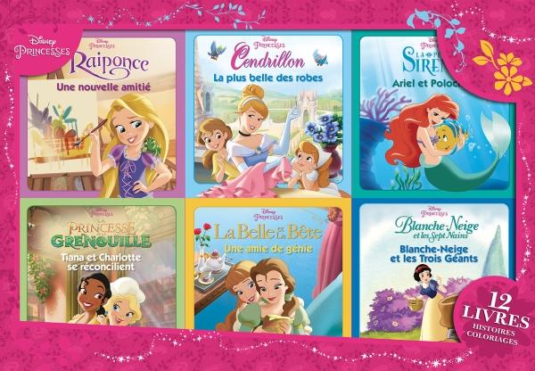 Coloriage Ariel Et Raiponce.Notice Bibliographique Disney Princesses 12 Livres Histoires