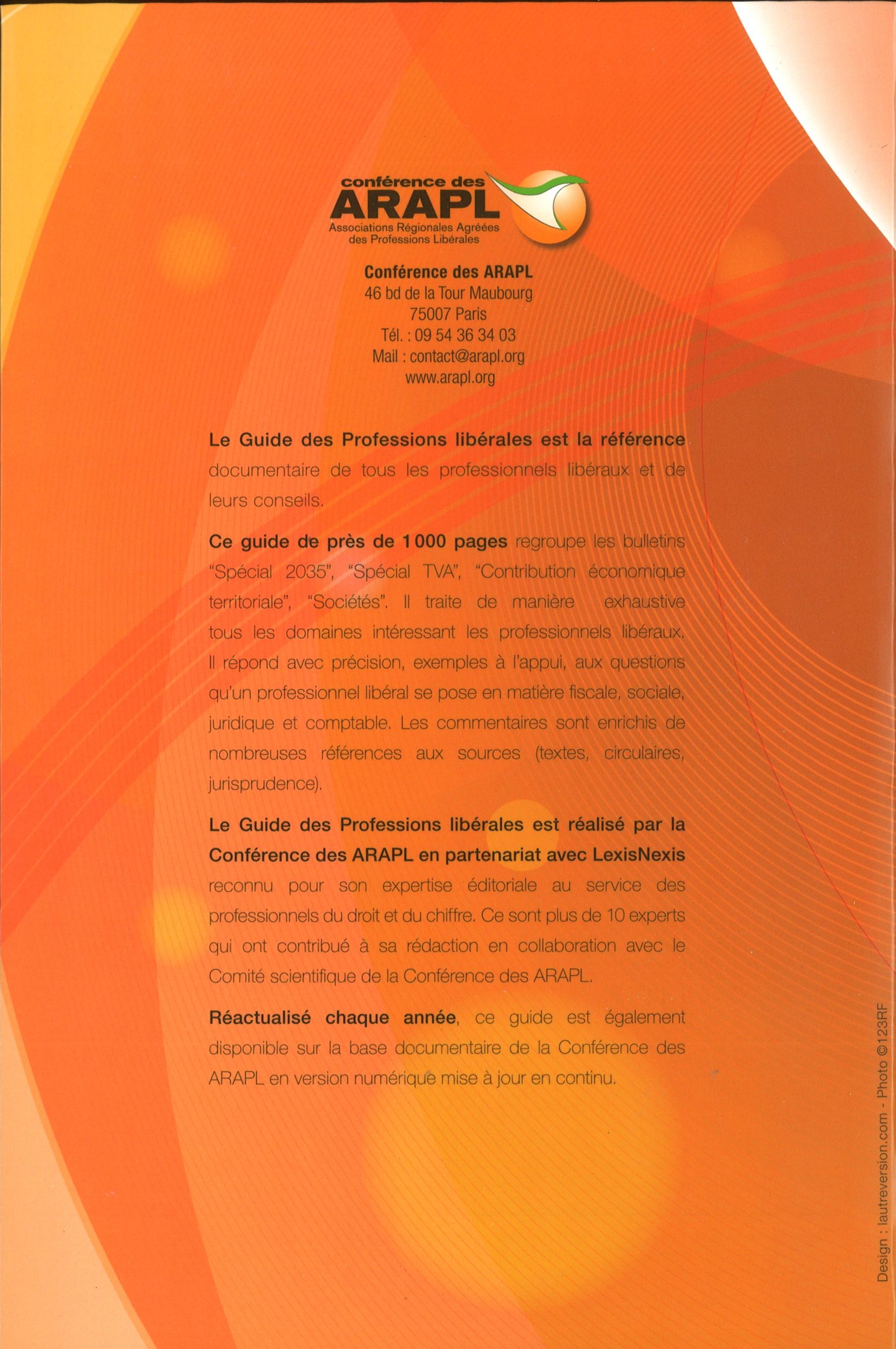 eca2c7c6ff31 Notice bibliographique Professions libérales ( Éd.  2018)  ouvrage réalisé  par la rédaction des éditions LexisNexis et la Conférence des ARAPL    BnF  ...