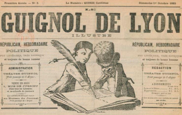 Photo (BnF / Gallica) de : Le Guignol de Lyon illustré. Lyon, 1882. ISSN 2129-0830.