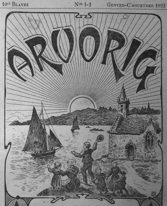 Photo (Institut de documentation bretonne et européenne) de : Arvorig. Koadout, 1913-1926. ISSN 2023-225X.