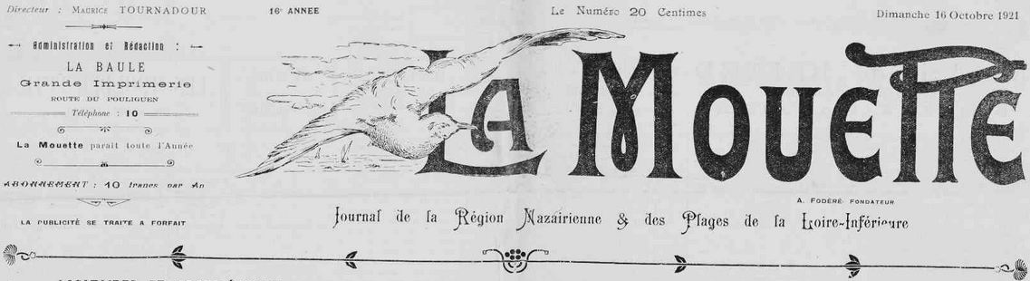 Photo (Loire-Atlantique. Archives départementales) de : La Mouette. Le Pouliguen, 1906-1942. ISSN 2132-6142.