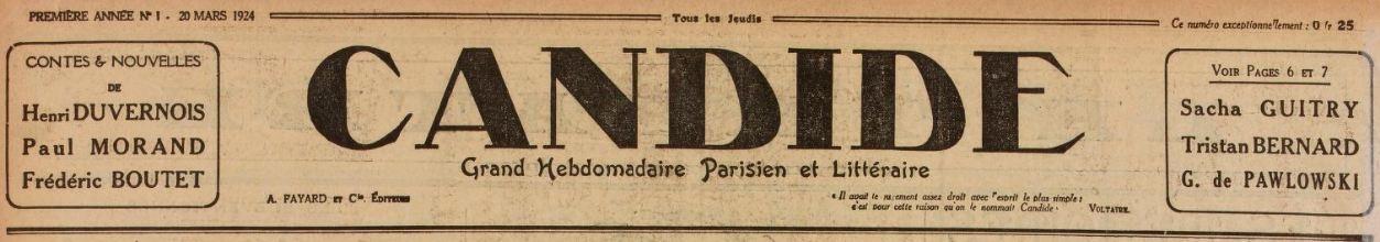 Photo (BnF / Gallica) de : Candide. Paris: Fayard, 1924-1944. ISSN 1255-9911.