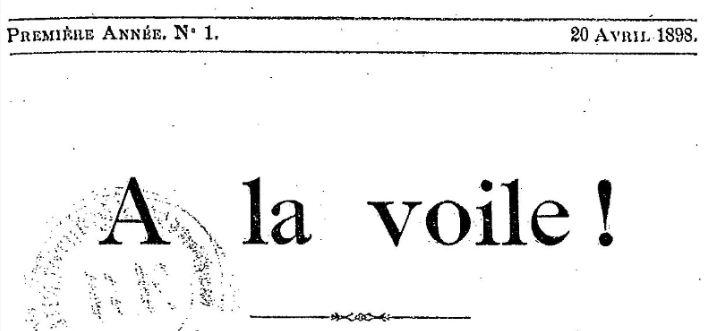 Photo (BnF / Gallica) de : À la voile. Douai, Erchin, 1898-1909. ISSN 2120-0238.