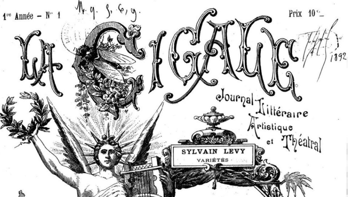 Photo (BnF / Gallica) de : La Cigale. Marseille, 1892-[1900 ?]. ISSN 2123-8413.