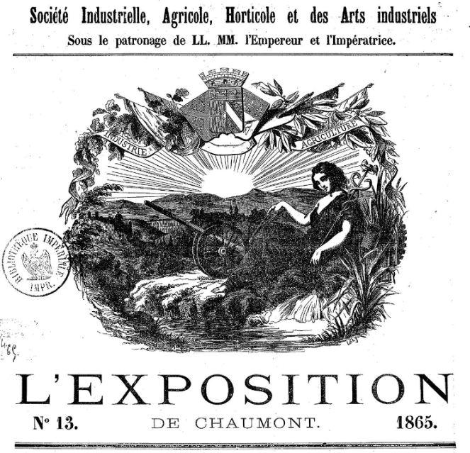 Photo (BnF / Gallica) de : L'Exposition de Chaumont. Chaumont: impr. Cavaniol, 1865-1882. ISSN 2118-1616.