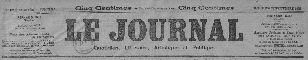 Photo (BnF / Gallica) de : Le Journal. Paris, 1892-1944. ISSN 1246-5666.