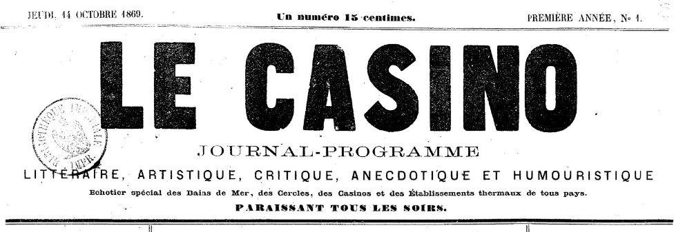 Photo (BnF / Gallica) de : Le Casino. Toulouse, 1869-1870. ISSN 2123-5090.