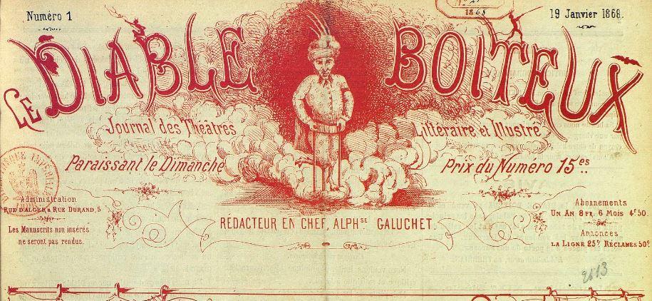 Photo (BnF / Gallica) de : Le Diable boiteux. Montpellier, 1868. ISSN 2125-8708.