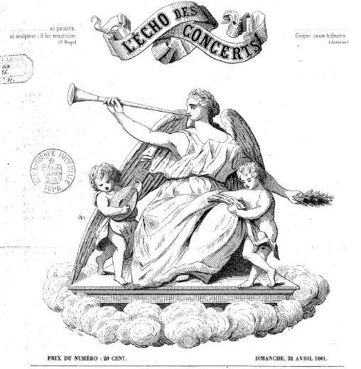 Photo (BnF / Gallica) de : L'Écho des concerts. Chaumont, 1861. ISSN 2126-4813.