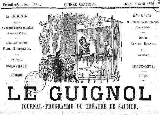 Photo (BnF / Gallica) de : Le Guignol. Saumur, 1866-[1879 ?]. ISSN 2129-0814.