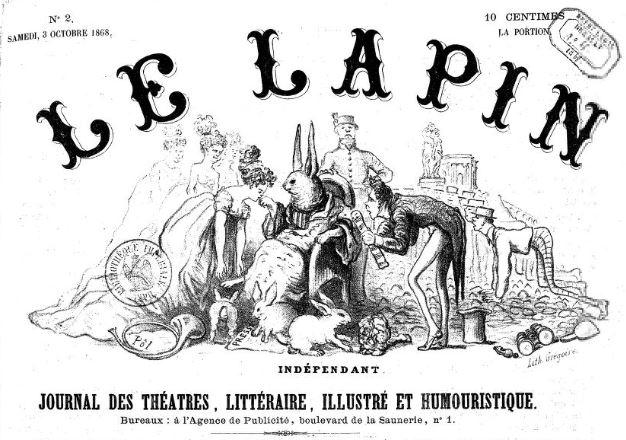 Photo (BnF / Gallica) de : Le Lapin indépendant. Montpellier, 1868-[1870 ?]. ISSN 2131-1757.