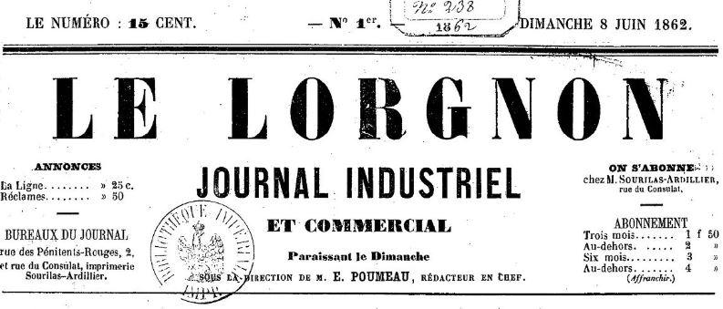 Photo (BnF / Gallica) de : Le Lorgnon. Limoges, 1862-1862. ISSN 2106-1548.