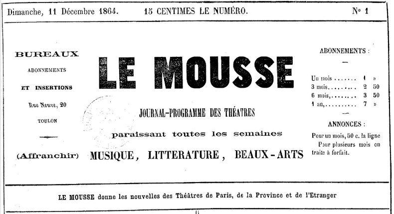 Photo (BnF / Gallica) de : Le Mousse. Toulon, 1864-[1867 ?]. ISSN 2017-6139.