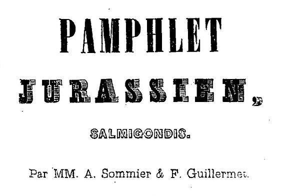 Photo (BnF / Gallica) de : Pamphlet jurassien. Lons-le-Saunier, 1841. ISSN 2106-1793.