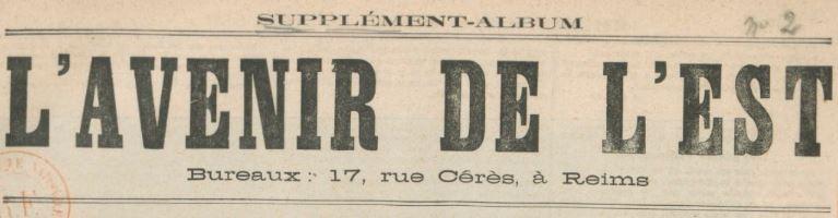 Photo (BnF / Gallica) de : L'Avenir de l'Est. Supplément-album et supplément illustré du dimanche. Reims, Paris, 1881-1882. ISSN 2121-4387.