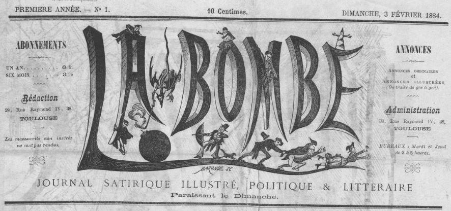 Photo (BnF / Gallica) de : La Bombe. Toulouse, 1884. ISSN 2122-0549.