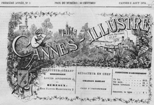 Photo (BnF / Gallica) de : Cannes illustré. Cannes, 1874. ISSN 2123-3780.