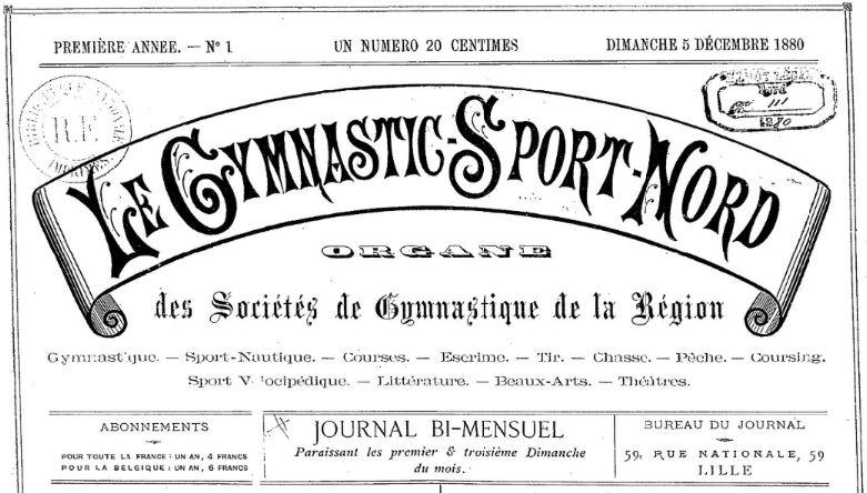 Photo (BnF / Gallica) de : Le Gymnastic-sport-Nord. Lille, 1880-[1881 ?]. ISSN 2129-0970.