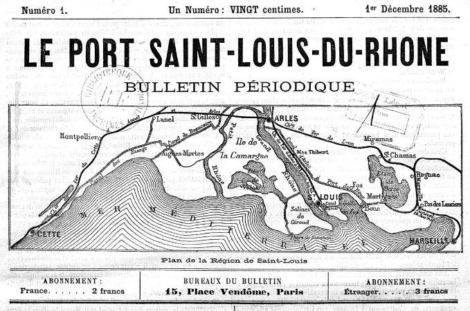 Photo (BnF / Gallica) de : Le Port Saint-Louis du Rhône. Paris, 1885-[1893 ?]. ISSN 2135-1538.