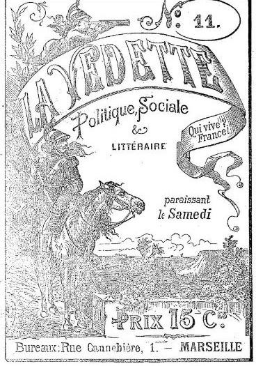 Photo (BnF / Gallica) de : La Vedette. Marseille, 1877-[1914 ?]. ISSN 2018-6479.