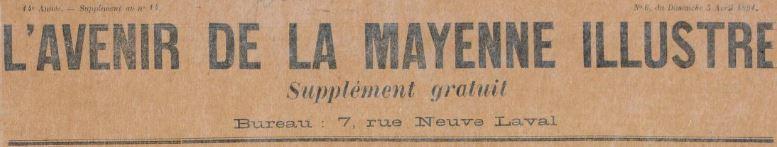 Photo (BnF / Gallica) de : L'Avenir de la Mayenne illustré. Laval, 1891-1892. ISSN 2121-4743.