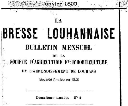 Photo (BnF / Gallica) de : La Bresse louhannaise. Louhans, 1889-1944. ISSN 2122-255X.