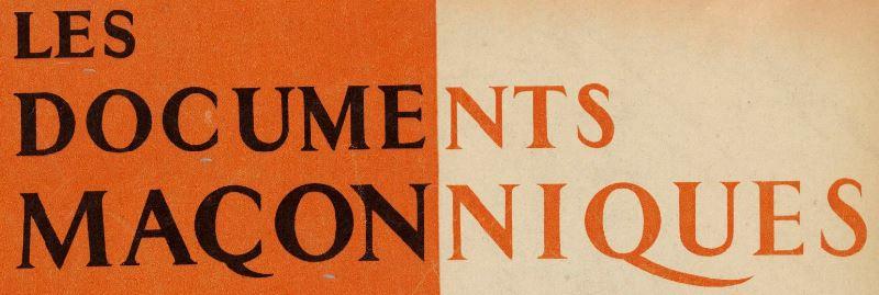 Photo (BnF / Gallica) de : Les Documents maçonniques. Vichy: Impr. des Documents maçonniques, 1941-1944. ISSN 2020-2490.