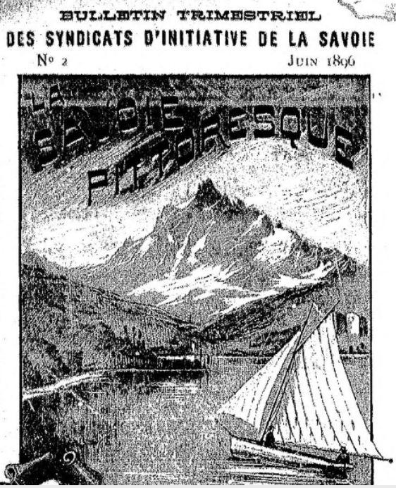 Photo (BnF / Gallica) de : Bulletin trimestriel des syndicats d'initiative de la Savoie. Chambéry: Syndicat d'initiative de la Savoie, Aix-les-Bains: Syndicat d'initiative de la Savoie, 1896-[1910?]. ISSN 2019-7861.