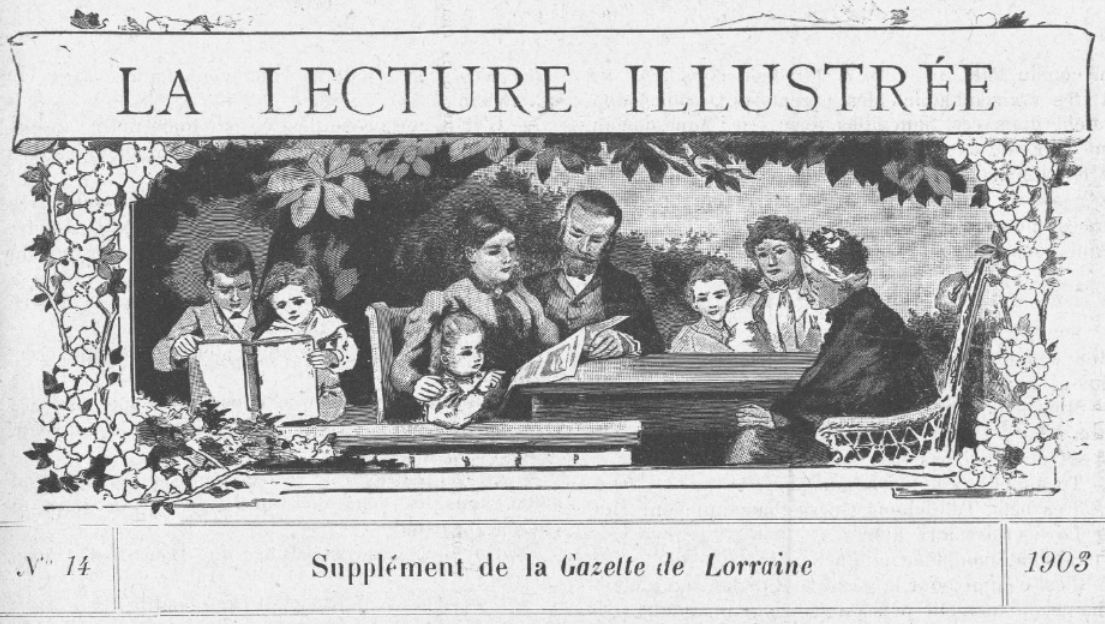Photo (BnF / Gallica) de : La Lecture illustrée. [Metz], [1903 ?]. ISSN 1963-3408.