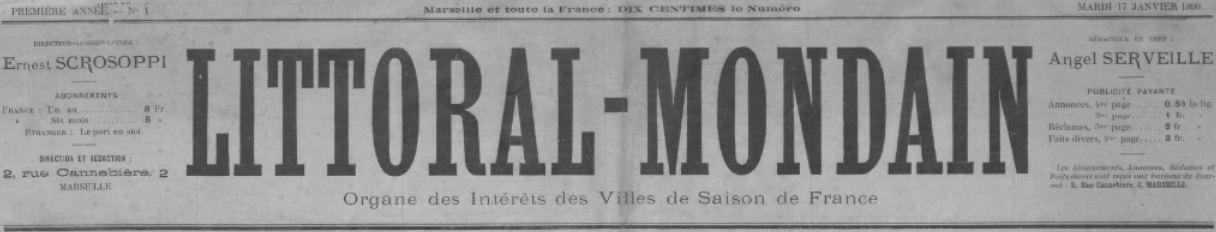Photo (BnF / Gallica) de : Littoral-mondain. Marseille, 1899-[1904 ?]. ISSN 2131-4993.