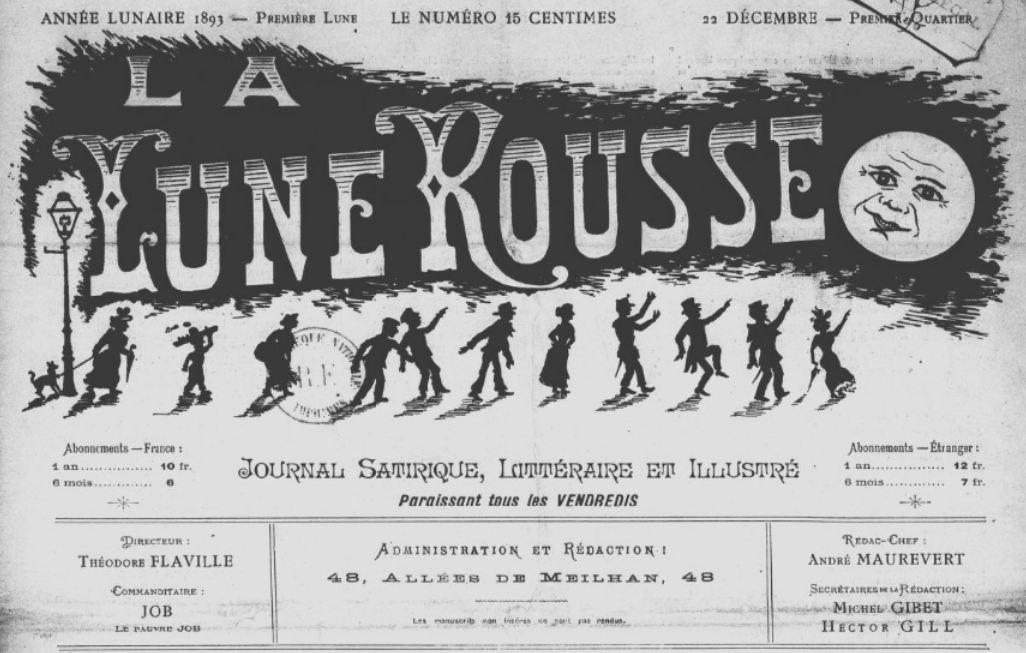 Photo (BnF / Gallica) de : La Lune rousse. Marseille, 1893-1894. ISSN 2131-6198.