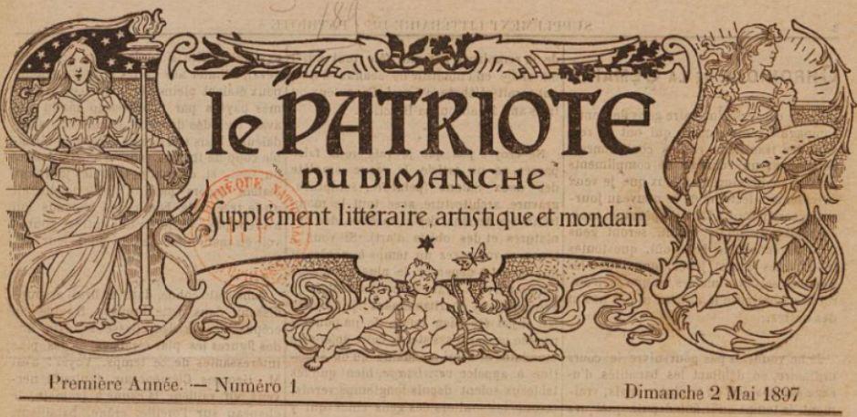 Photo (BnF / Gallica) de : Le Patriote du dimanche. Le Mans, 1897-[1898]. ISSN 2133-725X.