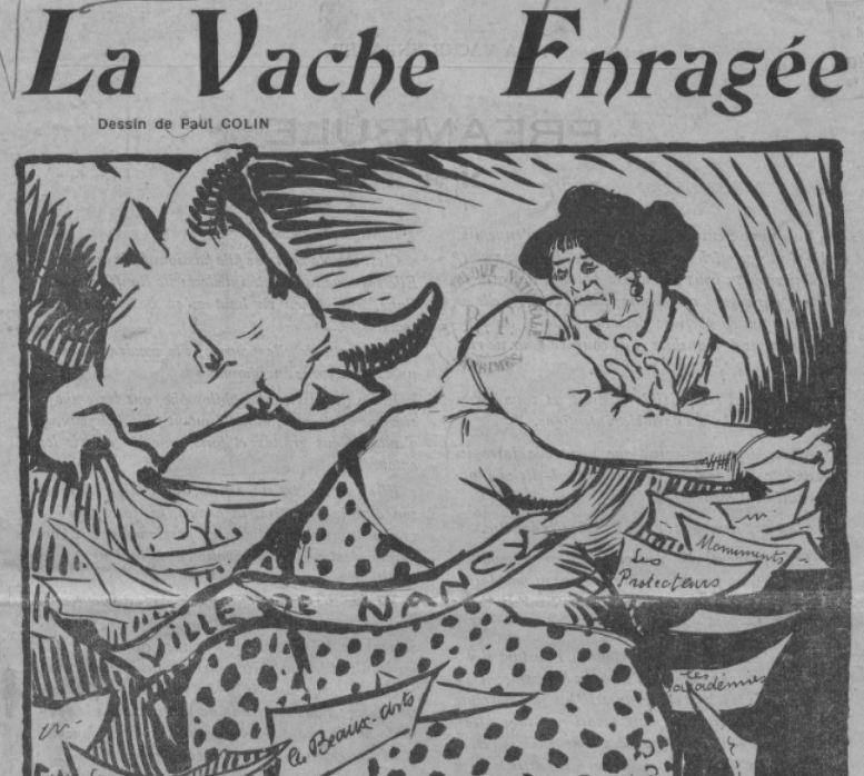 Photo (BnF / Gallica) de : La Vache enragée. Nancy, 1910. ISSN 2100-5311.