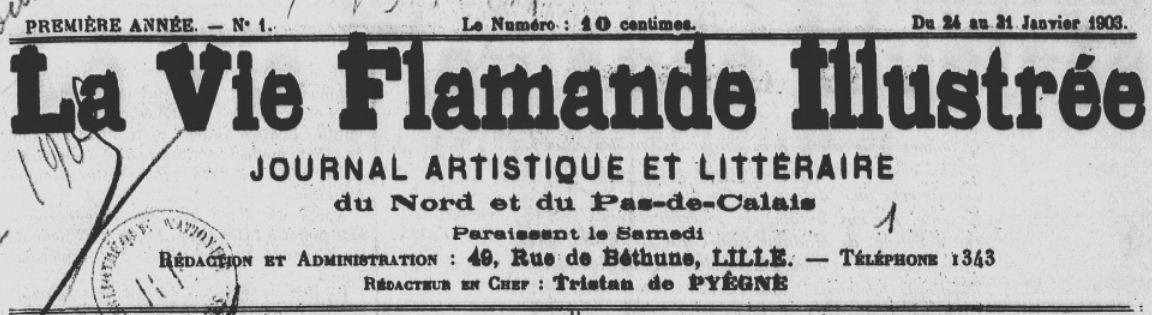 Photo (BnF / Gallica) de : La Vie flamande illustrée. Lille, 1903-1914. ISSN 1160-512X.