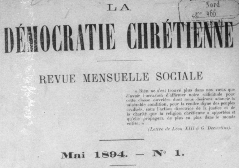 Photo (BnF / Gallica) de : La Démocratie chrétienne. Lille, 1894-1908. ISSN 1160-4662.