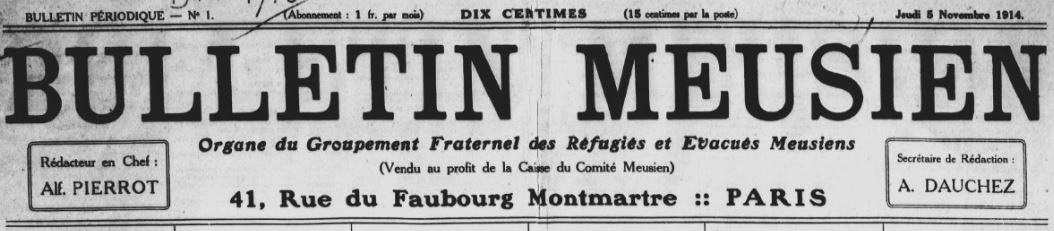 Photo (BnF / Gallica) de : Bulletin meusien. Paris, 1914-1939. ISSN 2123-1060.