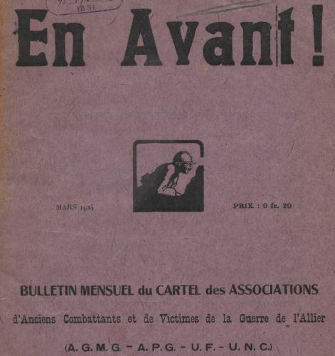 Photo (BnF / Gallica) de : En avant !. Montluçon, [1924 ?]. ISSN 2127-2719.