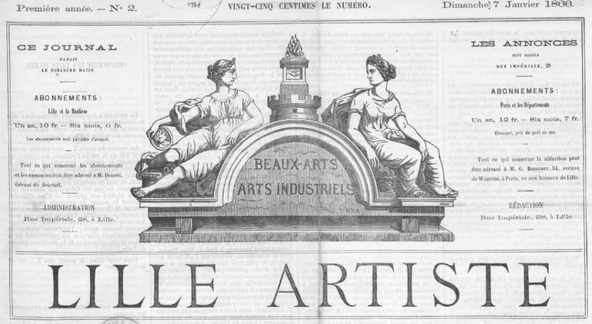 Photo (BnF / Gallica) de : Lille artiste. Lille, 1866. ISSN 2131-4306.
