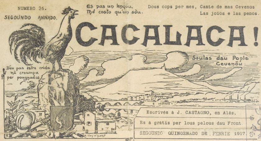 Photo (BnF / Gallica) de : Cacalaca. Alès, 1916-1938. ISSN 1155-9756.
