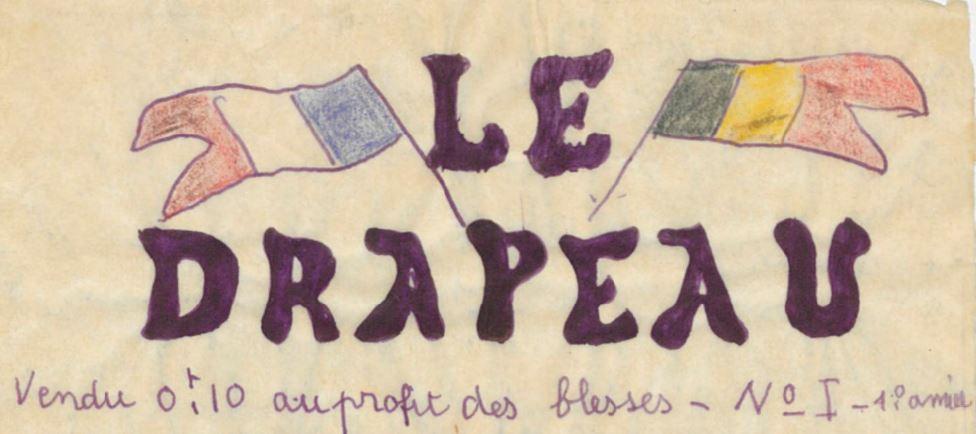 Photo (BnF / Gallica) de : Le Drapeau. Marseille: P. Trabaud, 1915. ISSN 1282-9919.