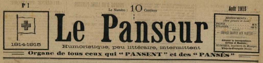 Photo (BnF / Gallica) de : Le Panseur. Vitry-le-François, 1915-[1915 ?]. ISSN 2133-5206.