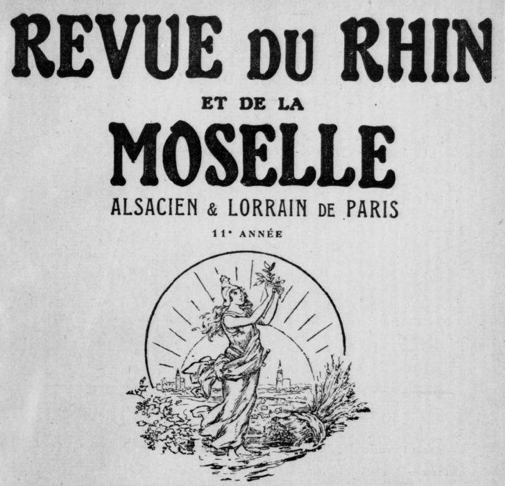 Photo (BnF / Gallica) de : Revue du Rhin et de la Moselle. Paris, 1922-1933. ISSN 1270-5845.