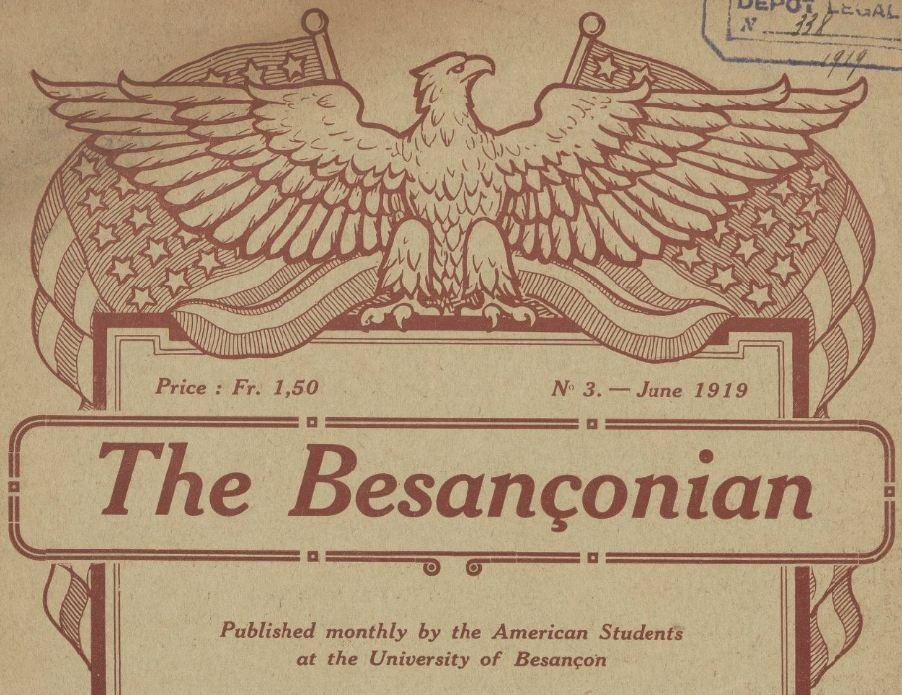 Photo (BnF / Gallica) de : The Besançonian. Besançon, 1919. ISSN 2121-9311.
