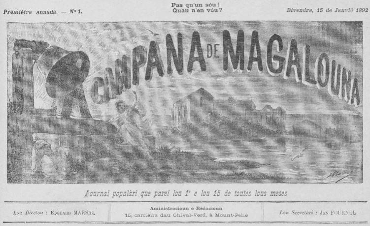 Photo (Occitanie) de : La Campana de Magalouna. Mount-Peliè, 1892-1933. ISSN 2016-615X.