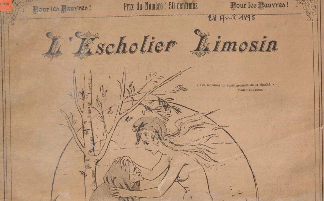 Photo (BnF / Gallica) de : L'Escholier limosin. Limoges: Impr. Henri Charles-Lavauzelle, 1895. ISSN 2551-6205.