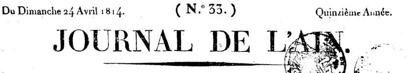 Photo (Auvergne-Rhône-Alpes livre et lecture) de : Journal de l'Ain. Bourg-en-Bresse, 1800-1944. ISSN 2021-3395.