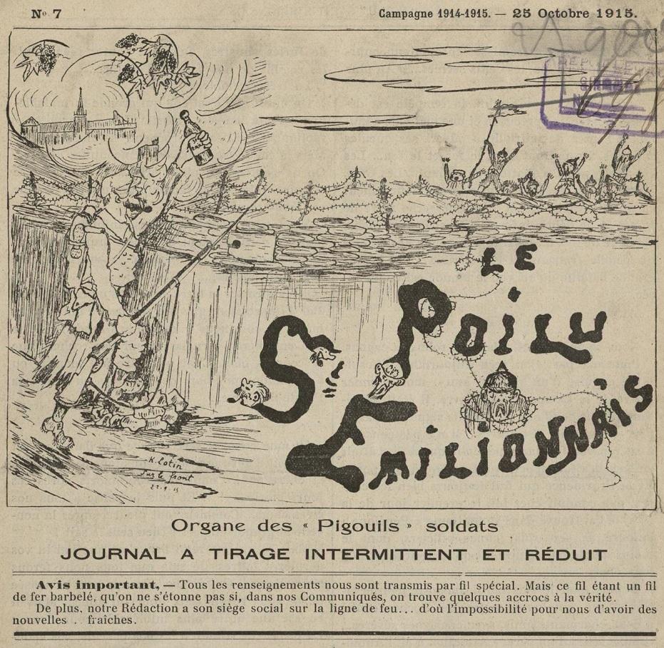 Photo (Bibliothèque municipale (Lyon)) de : Le Poilu st-émilionnais. Bordeaux, 1914-1940. ISSN 2497-7314.