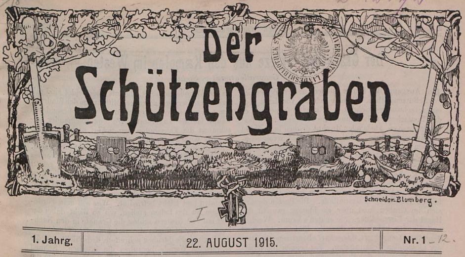 Photo (BnF / Gallica) de : Der Schützengraben. Bapaume, 1915-1917. ISSN 2496-2074.