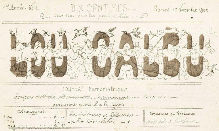 Photo (Occitanie) de : Lou Calèu. Bagnols-sur-Cèze: Impr. spéciale du Calèu, 1900-1901. ISSN 2123-3128.